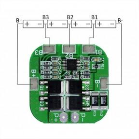 PCB (BMS) 4S 20А контроллер