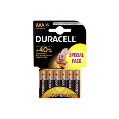 Duracell Basic Duralock LR03/AAA в блистере 6шт